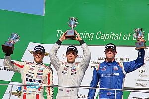 Indy Lights Reporte de la carrera Santiago Urrutia logró podio en Indianápolis