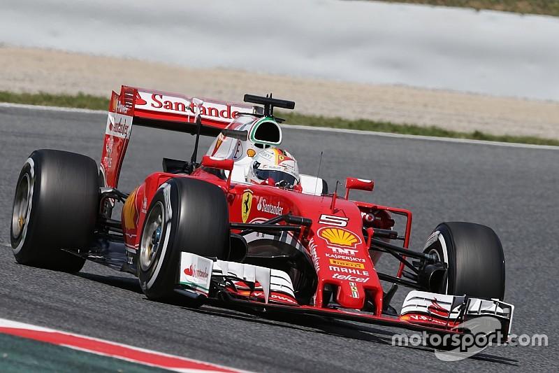 Ferrari-Pilot Sebastian Vettel: Nachsitzen bei Formel-1-Testfahrten in Barcelona