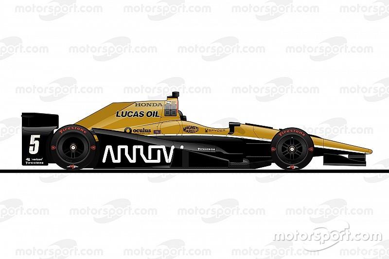 De startopstelling voor de 100e Indy 500