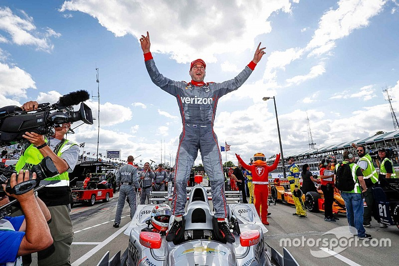 Power klopt Pagenaud in tweede race Detroit