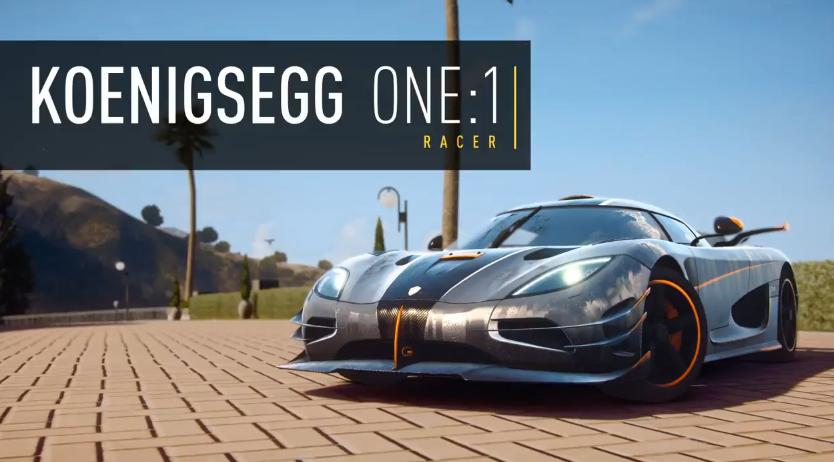 Need for Speed Rivals: Koenigsegg One:1 a játékban
