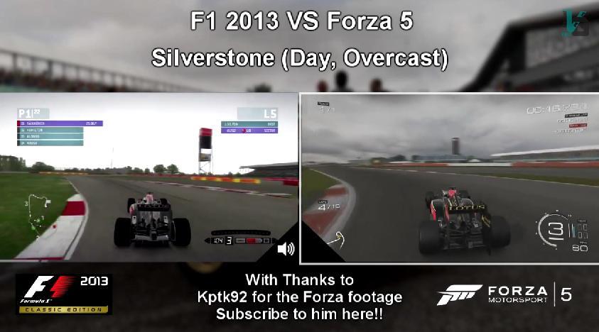 F1 2013 Vs. Forza Motorsport 5: Érezd a különbséget