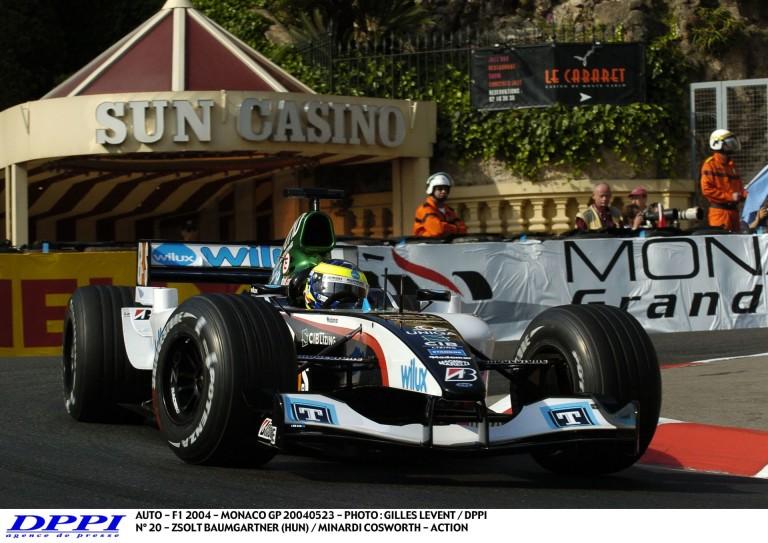 Baumgartner Zsolt időmérős köre a Minardival 2004-ből Monacóban