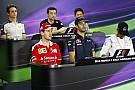 Videó, ahogy Vettel megpróbálja rátenni Ricciardo fejére a ferraris sapkát