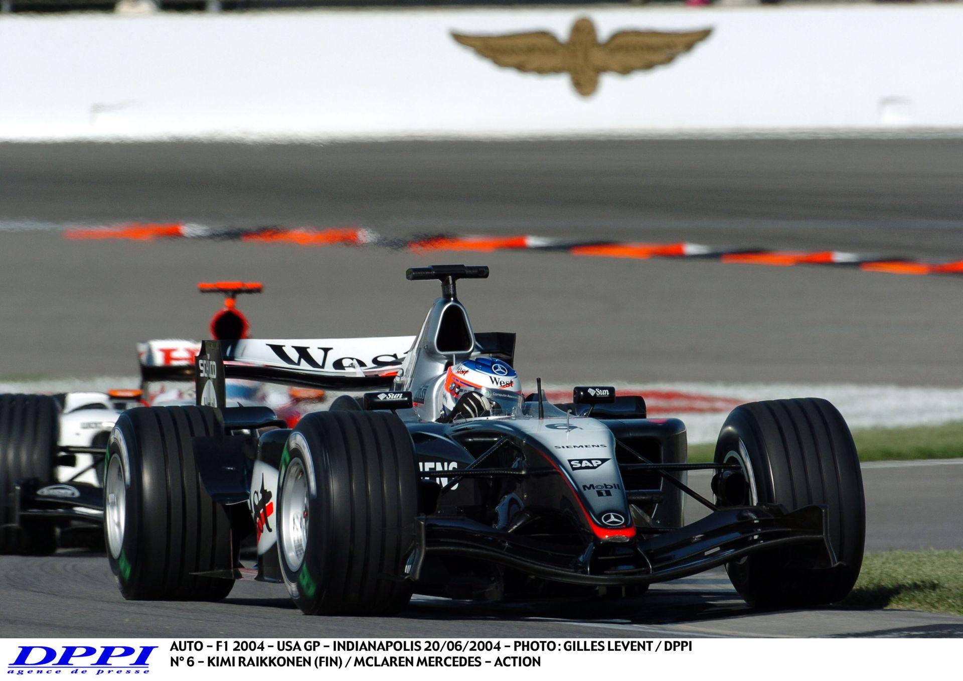 Nem kell DRS a Forma-1-be: Raikkönen Webber ellen a 2004-es Amerikai Nagydíjon