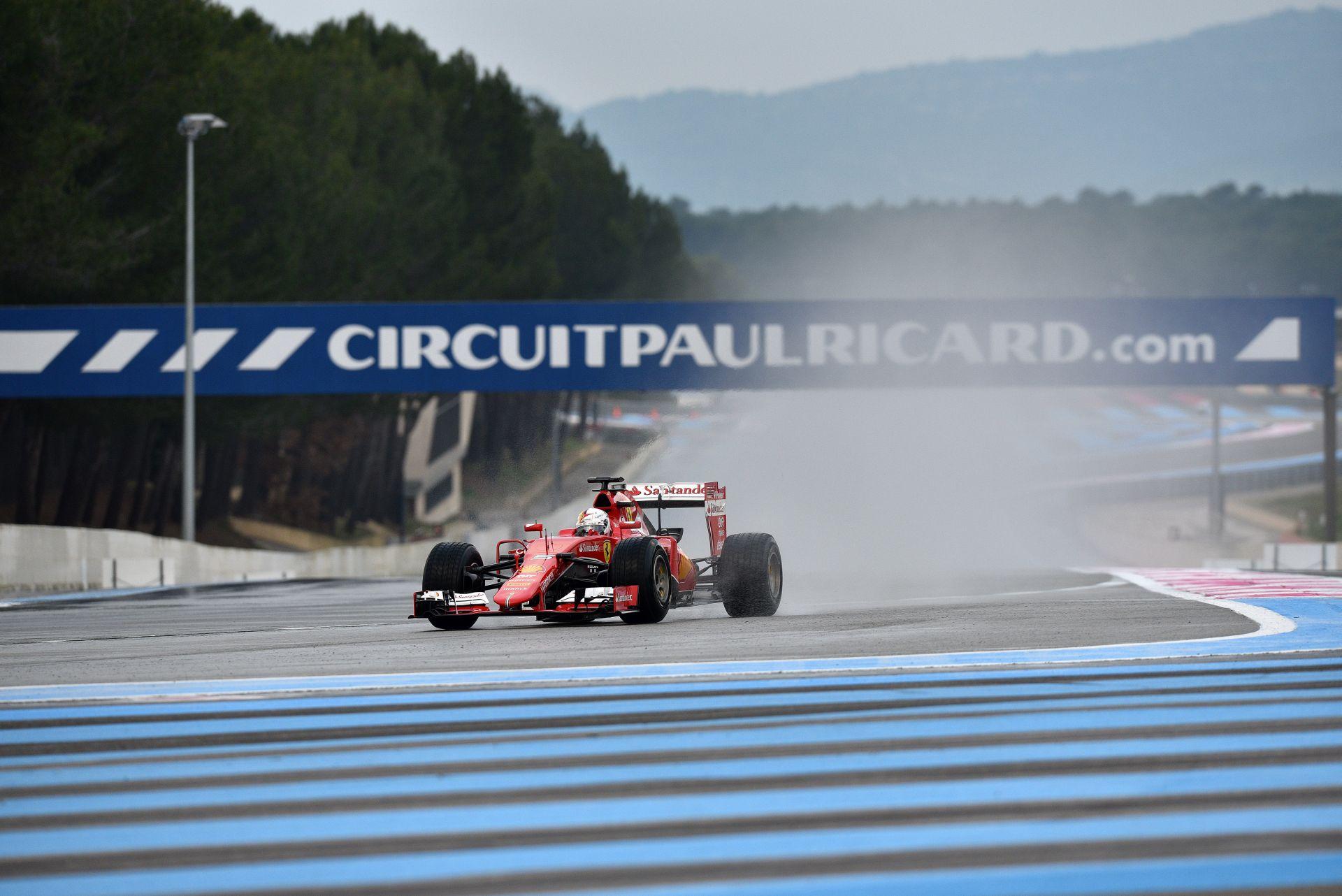 Vettel végzett az élen a Pirelli mai esős tesztjén!