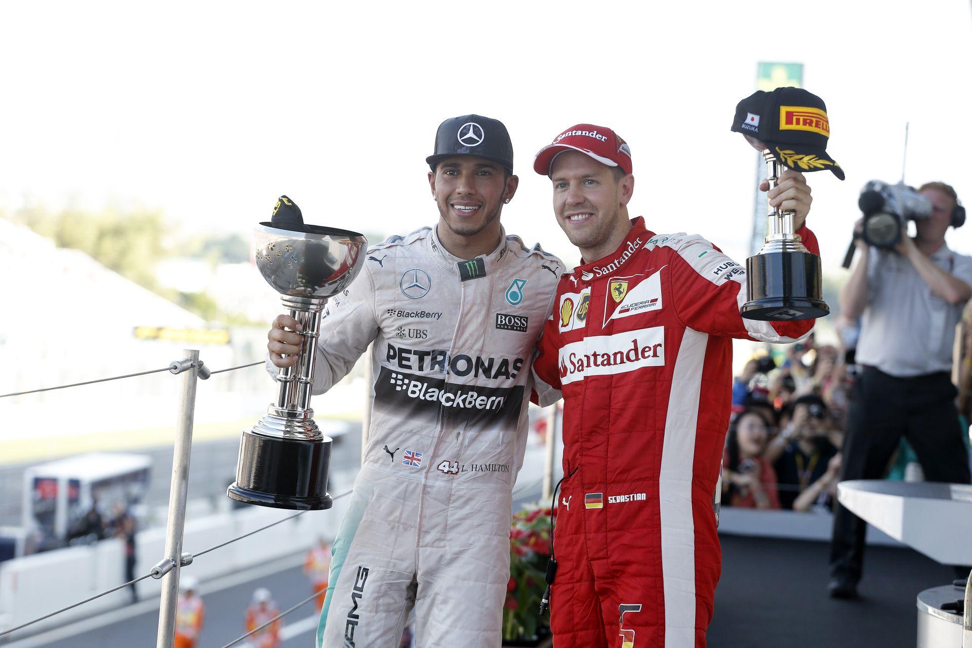 Hamilton vs Vettel: A két bajnok hogy áll a Forma-1-es naptár pályáin?