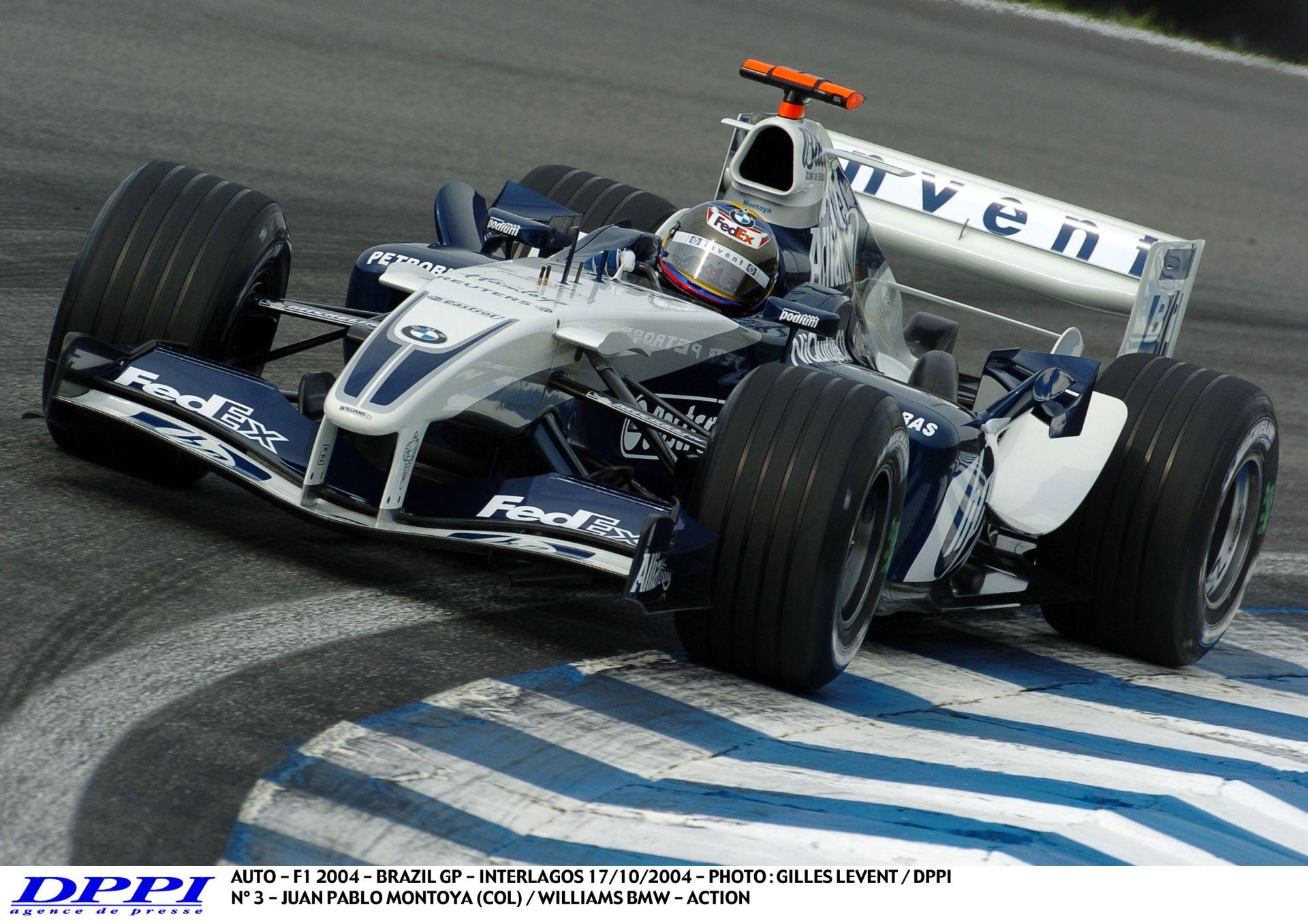 Montoya száguldása a 2004-es Brazil Nagydíjon: üvölt a V10