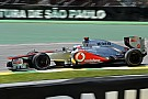 Jenson Button pályabejárása a McLarennel Interlagosban