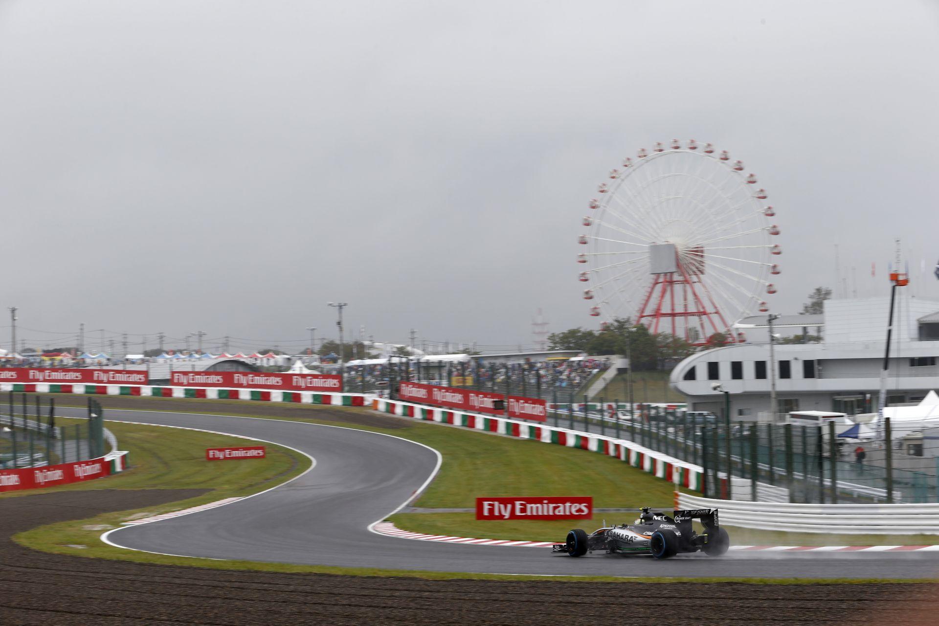 Dupla, vagy semmit játszik a Force India: esőre rendezkednek be Japánban