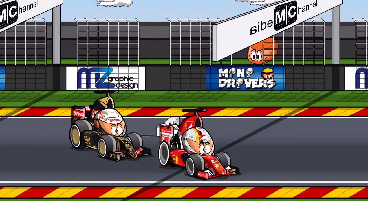 Megérkezett a 2015-ös Belga Nagydíj humoros összefoglaló videója: Raikkönen, Vettel és a többiek