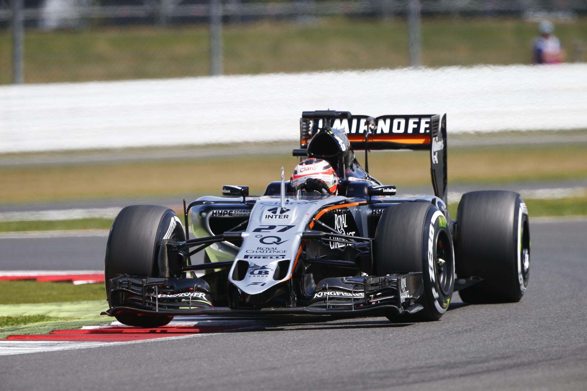 Hülkenberg újabb nagyszerű eredménye a Force Indiával, de Pérez is pontot szerzett Silverstone-ban