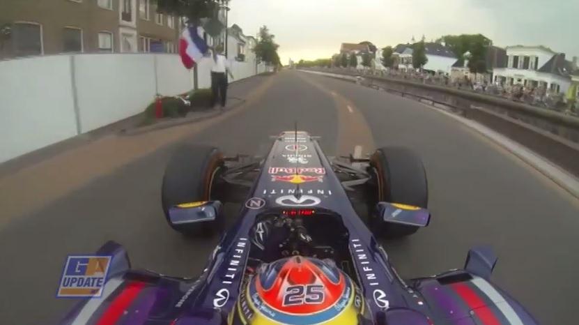 F1-es parádé Assenben: Vergne odacsapott a V8-as motorral üvöltő Red Bullal (onboard)