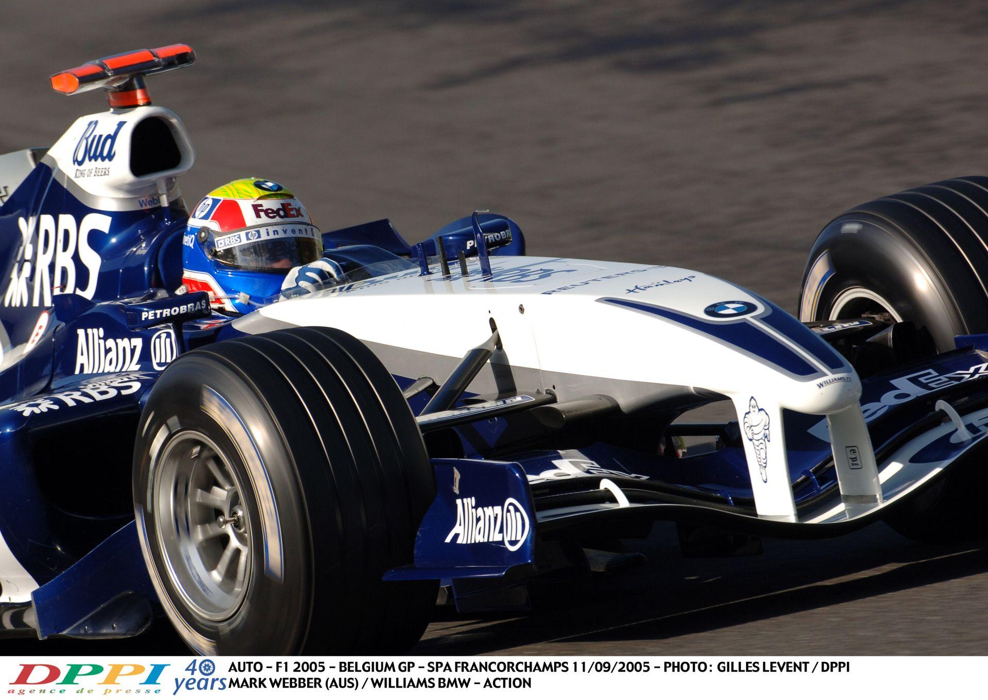 Ha erre sem pörögsz fel, akkor semmire! Webber, BMW Williams és a brutális V10 Spa-ban