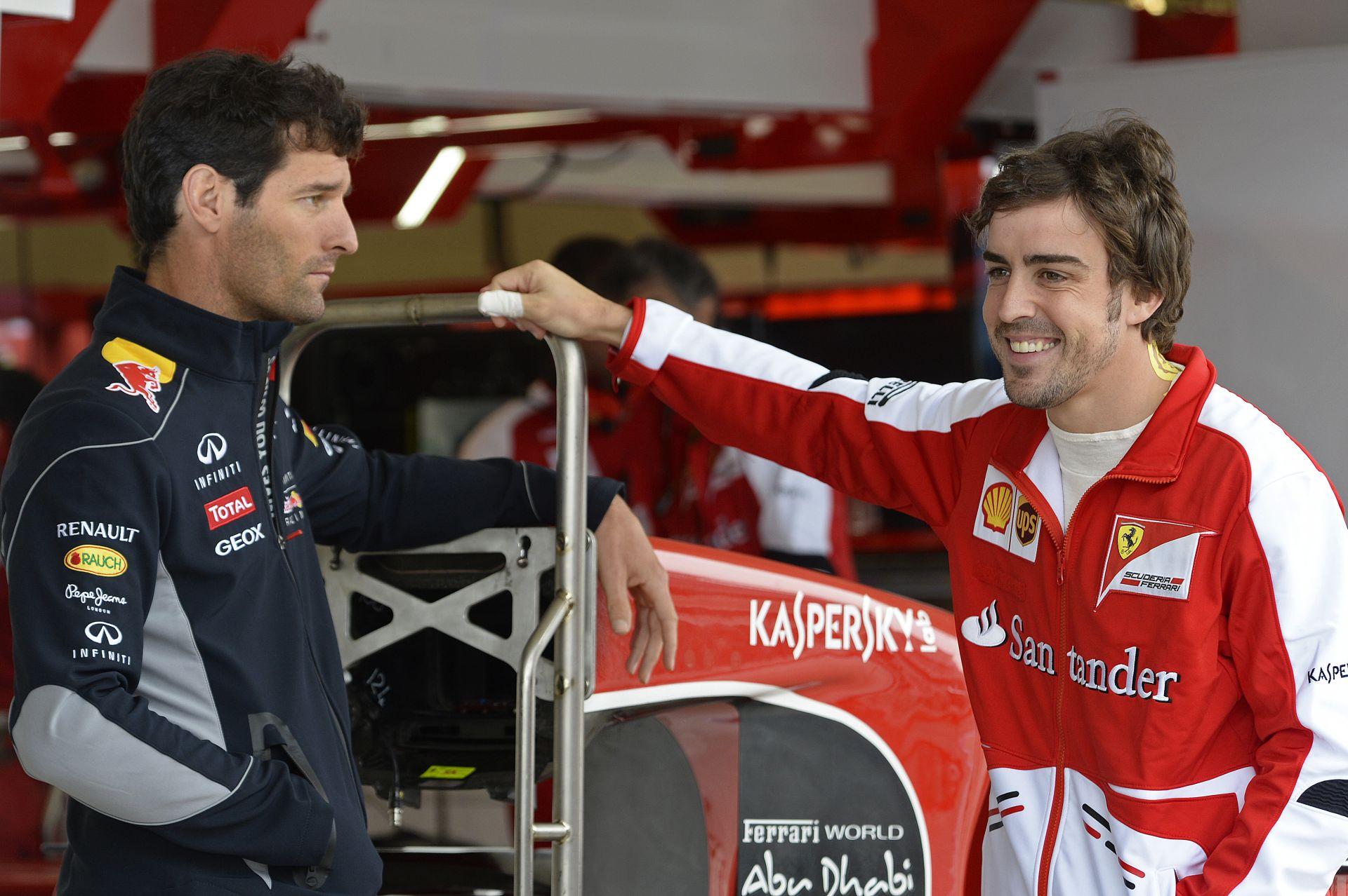 Webber szerint Alonso csak a gyenge Ferrari miatt nem tud bajnokságot nyerni