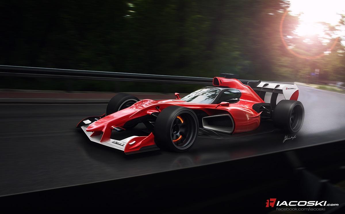 Így mutathatnak a 18 colos kerekek az F1-es autókon: Egy újabb grafika