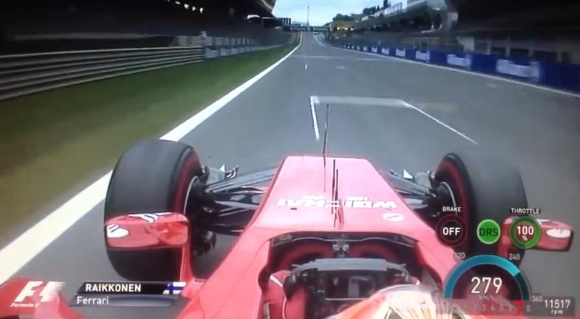 Így mozog Raikkönen alatt a Ferrari a Red Bull Ringen