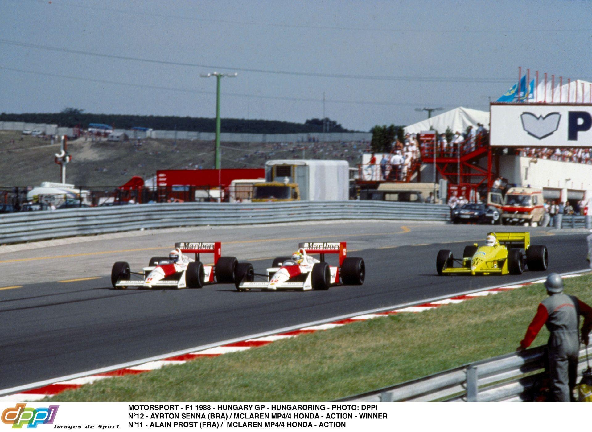 Ayrton Senna és Alain Prost csatája a Hungaroringen – 1988, Magyarország