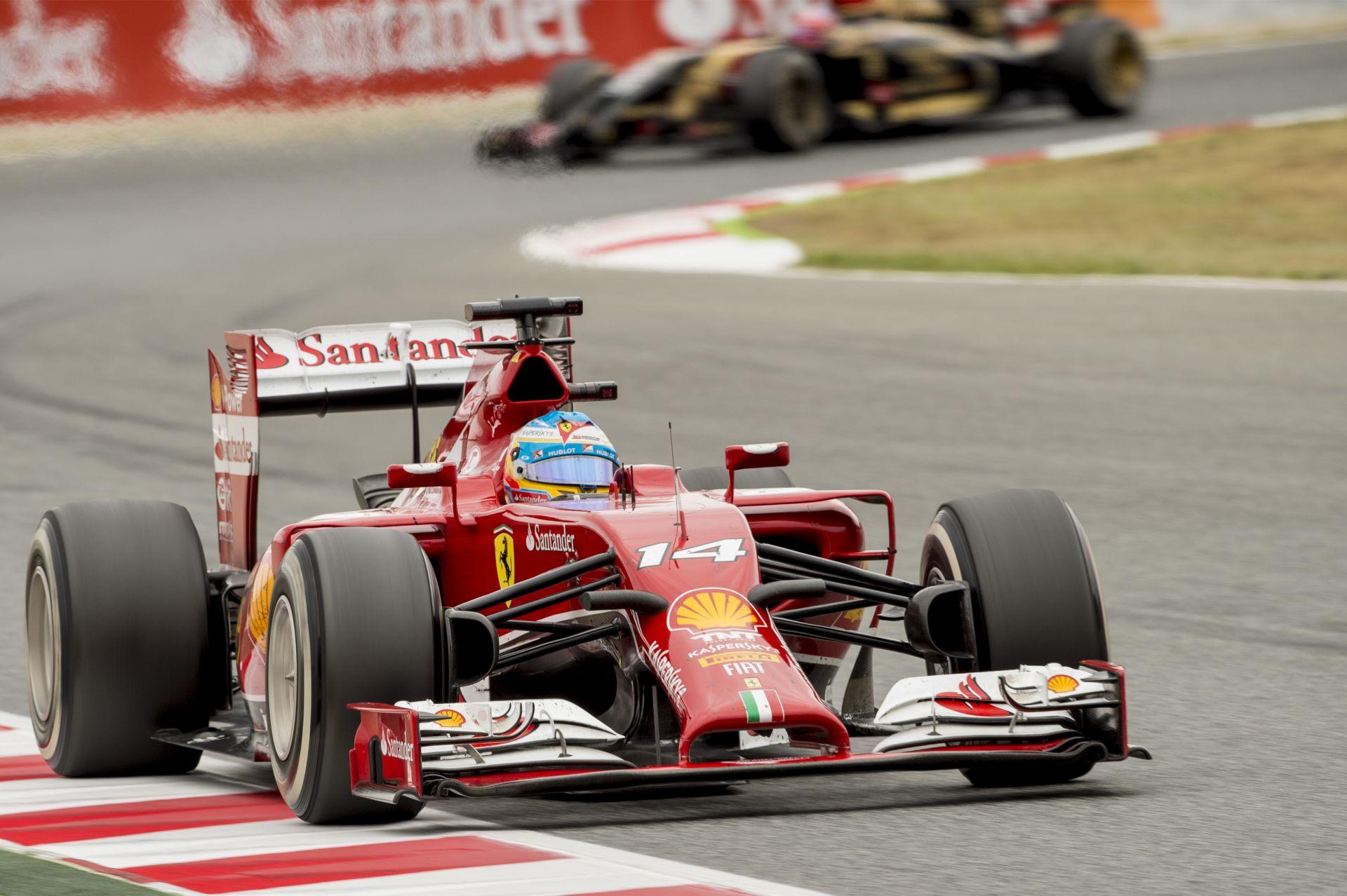 F1 2013 Vs. F1 2014: Alonso Barcelonában – fedélzeti kamera