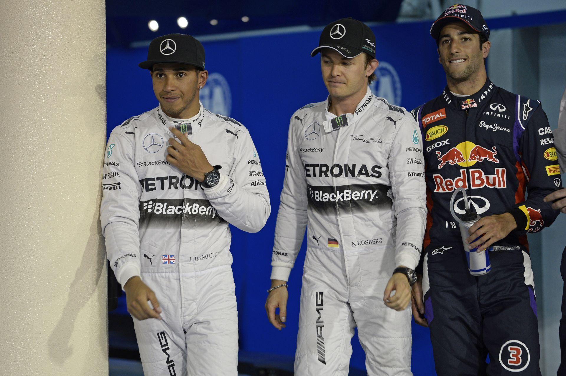Bahrein Nagydíj 2014: Hamilton koppant, Rosberg odatette magát, Ricciardo az örök szerencsétlen