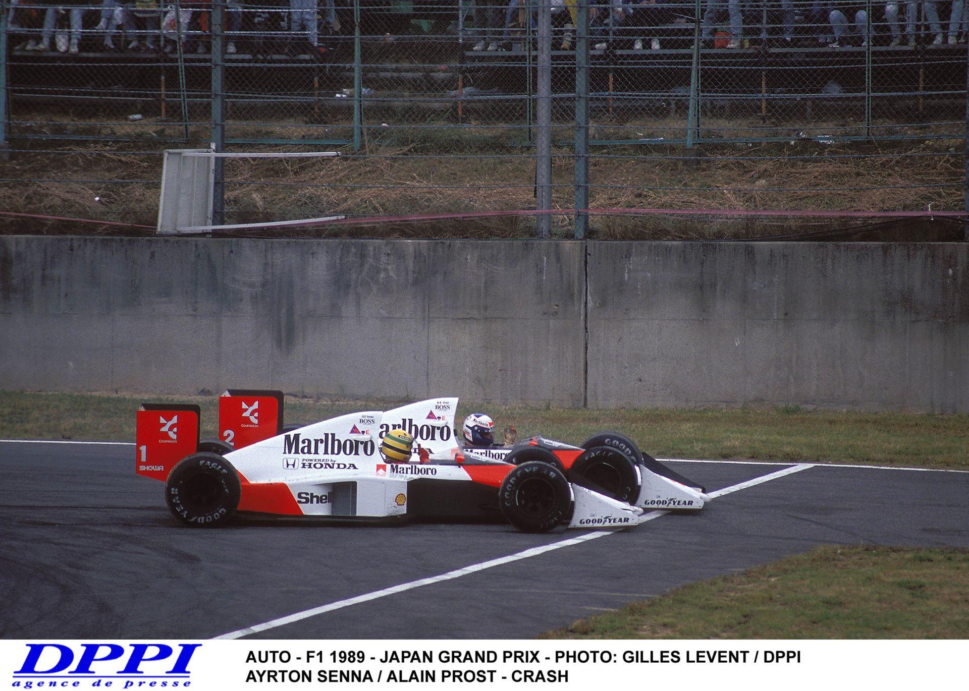 Ayrton Senna és Alain Prost legendás ütközése – 1989