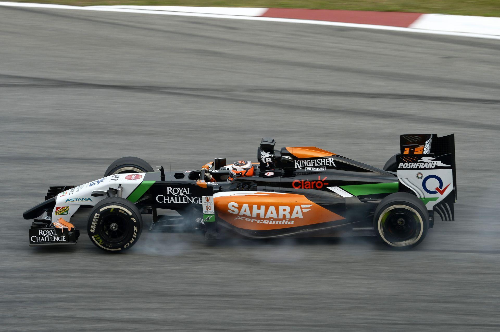 Force India: Hülkenberg sokat tesztelt, Pérez délelőtt csak szenvedett
