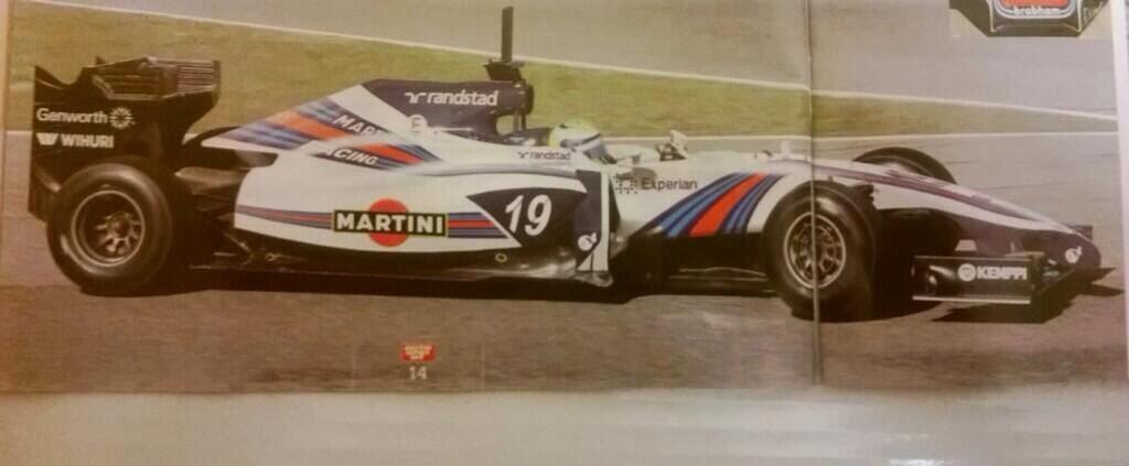 Massa már pályára is vitte a Williams Martini festést?