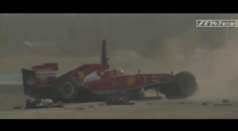 Videó Raikkönen mai balesetéről a Ferrarival