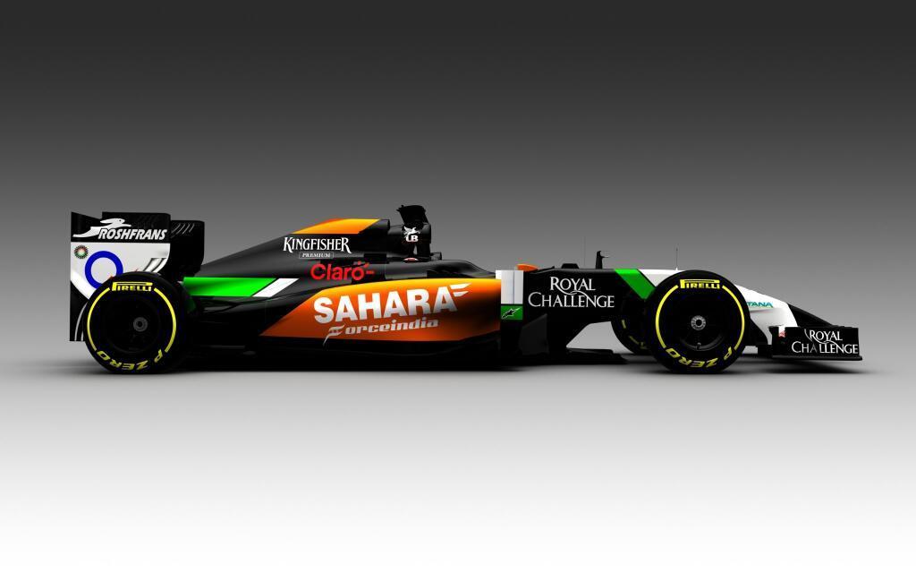 Hivatalos: Bemutatkozott a 2014-es Force India! Teljesen új festéssel érkezik a VJM07