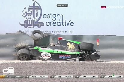 A GP3-ban sem maradt el a csattanás: Sandy Stuvik eléggé megtörte a gépet