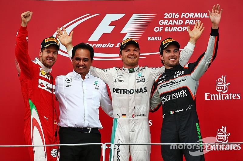 Formel 1 in Baku: Fünfter Saisonsieg für Nico Rosberg