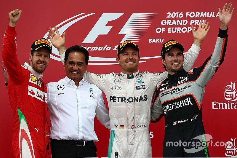 欧洲大奖赛:罗斯伯格轻松收获赛季第五场胜利,赛车动力令汉密尔顿不满