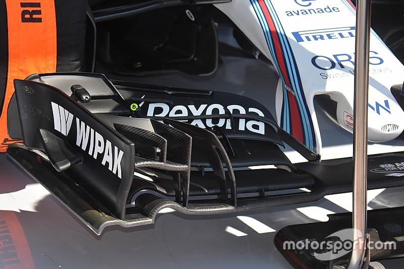 Tech update: Williams testte twee nieuwe voorvleugels tijdens VT3