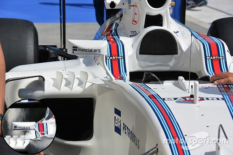 Технічний брифінг: кріплення бічних дзеркал Williams FW38