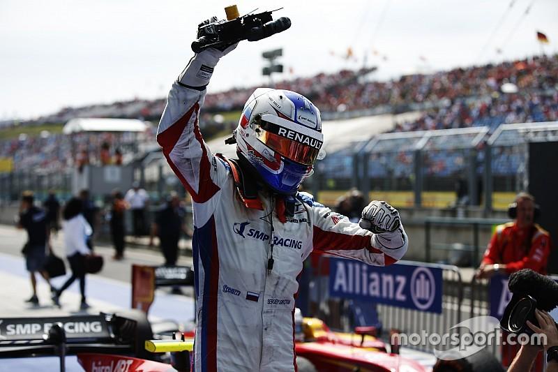 Sirotkin logró su esperada primera victoria de 2016