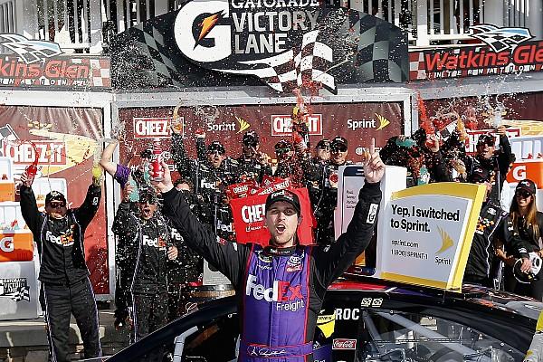 NASCAR Cup Denny Hamlin  vence en Watkins Glen