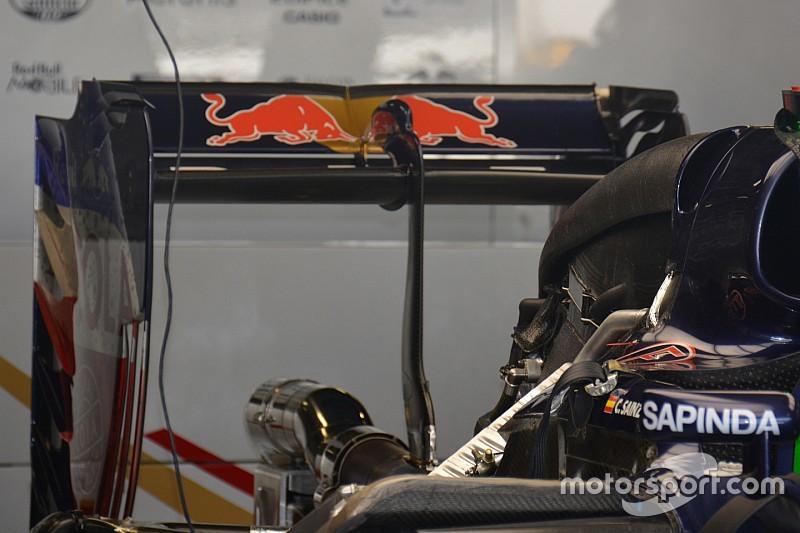 Toro Rosso: profilo molto scarico, ma flap grande sull'ala posteriore