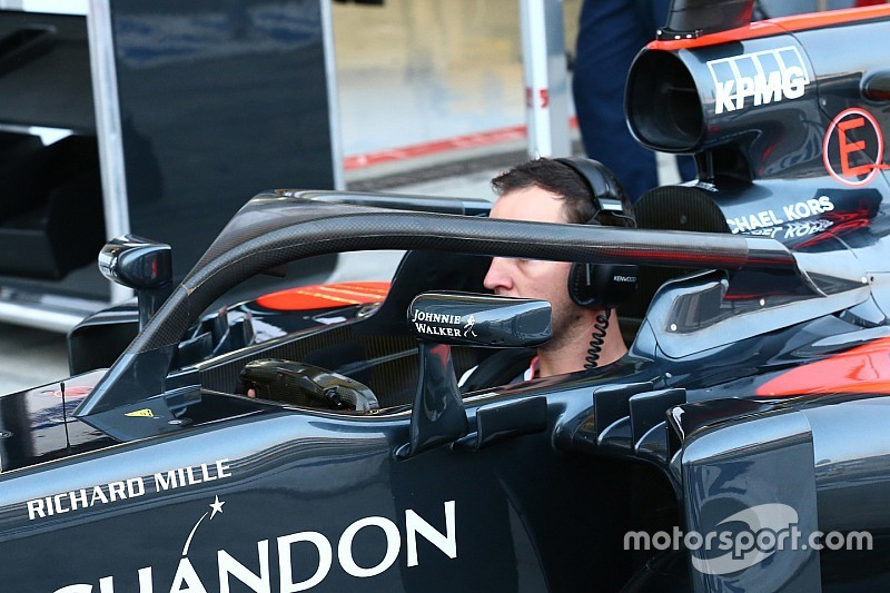 バトン、イタリアGPのFP1でハロをテスト