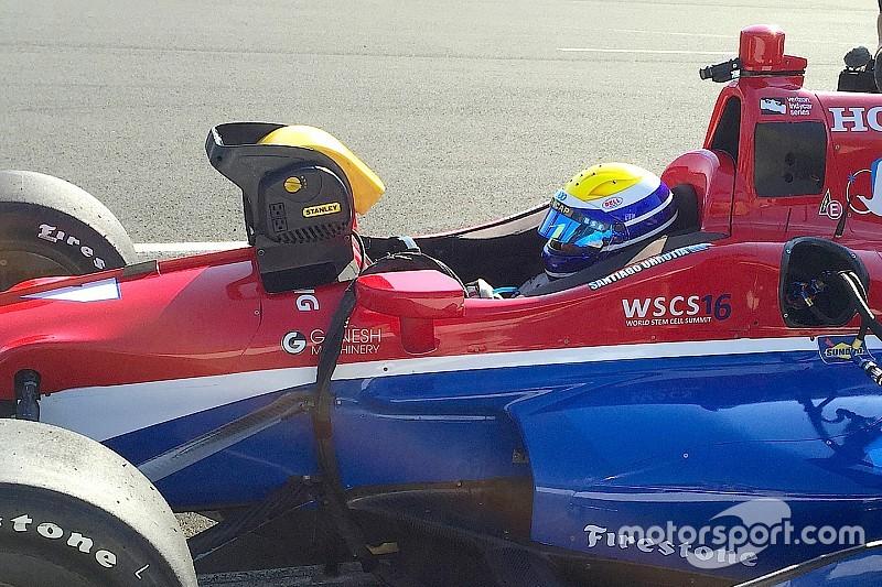 Urrutia, impresionado en su primera prueba con un IndyCar