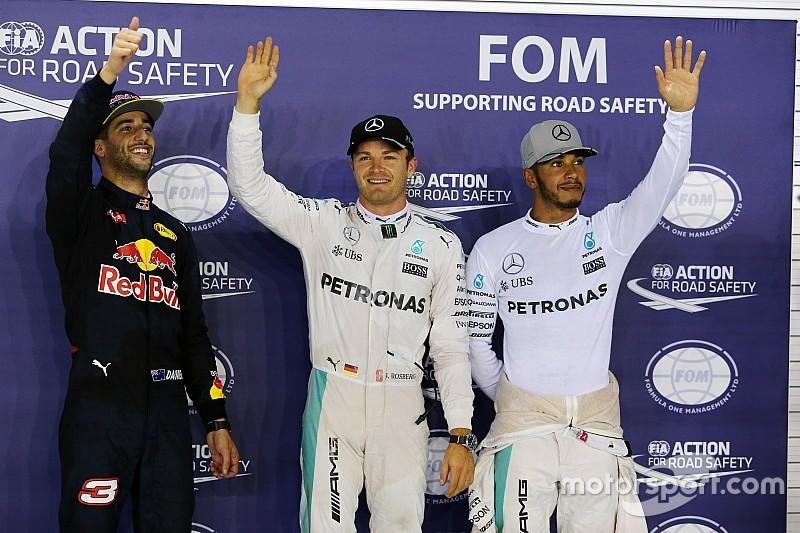 La parrilla de salida del Gran Premio de Singapur