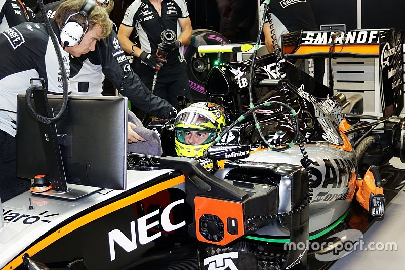 セルジオ・ペレスに8グリッド降格ペナルティ:F1シンガポールGP