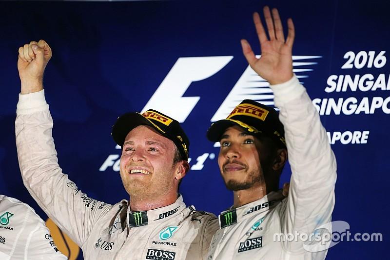 Hamilton alaba el trabajo de Nico Rosberg