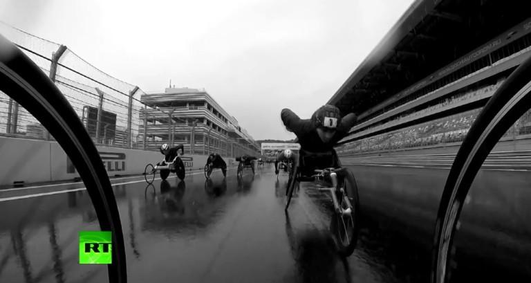 F1-es pályán edzettek az orosz paralimpikonok