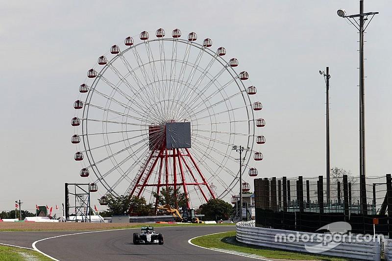 日本大奖赛FP1:罗斯伯格轻松设下标杆,红牛有所保留