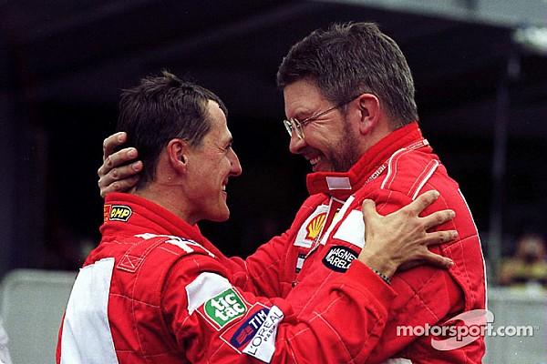 Ross Brawn spreekt van 'bemoedigende tekenen' bij Schumacher