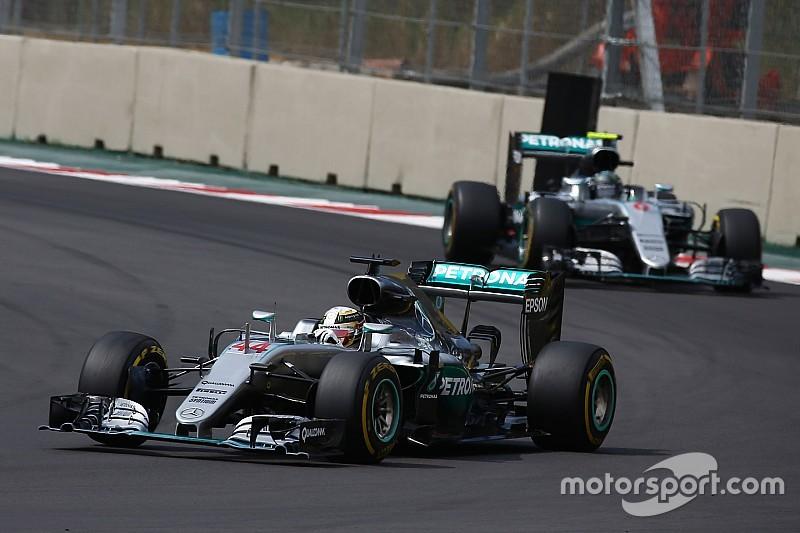 """Hamilton: """"Ga Rosberg niet afstoppen voor Red Bull"""""""