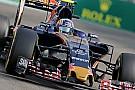 Toro Rosso past ophanging aan na lekke banden