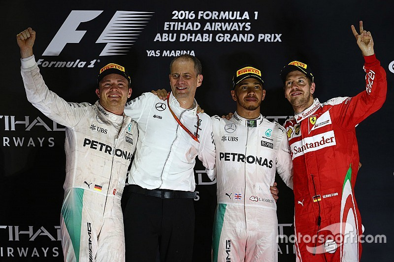 GP Abu Dhabi: Hamilton juarai balapan, Rosberg raih titel perdana