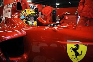In beeld: De Ferrari F1-tests van Valentino Rossi