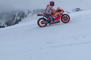 MotoGP Noticias de última hora Video: Márquez, con la Honda de MotoGP sobre la nieve